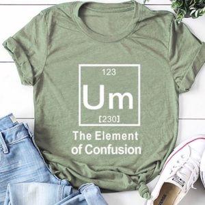 "⭐️Sneak Peek⭐️ ""Um"" Olive Green Graphic Tee Shirt"